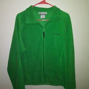 Women's Columbia Green Fleece Zip-up Jacket
